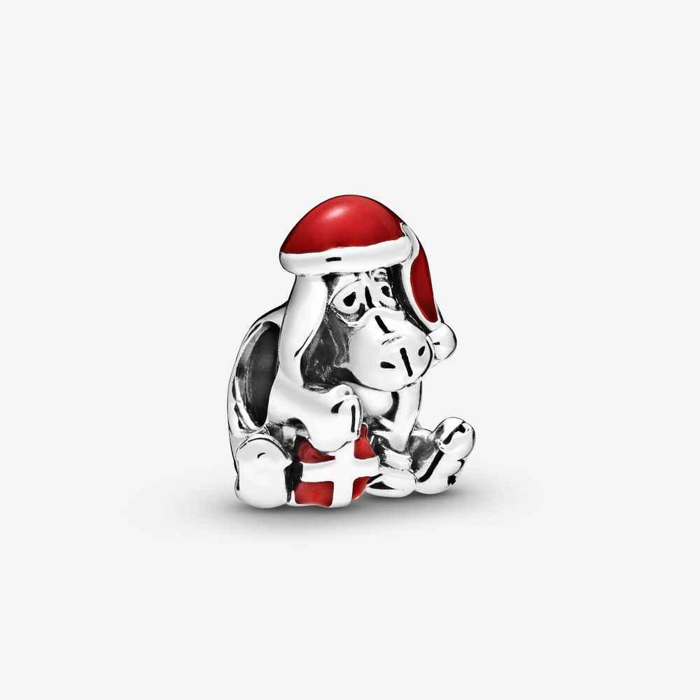 925 Sterling Argento Santa di Amore di Pace Gioia di Fascino Ciondola Eeyore Di Natale Luna e Cielo Notturno di Fascino misura Pan dora Braccialetto per Le Donne