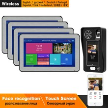 Homefong Wifi Intercom Intercom Smart Systeem Voor Villa Draadloze 10 Inch Touch Screen Gezichtsherkenning Video Deurbel App Controle