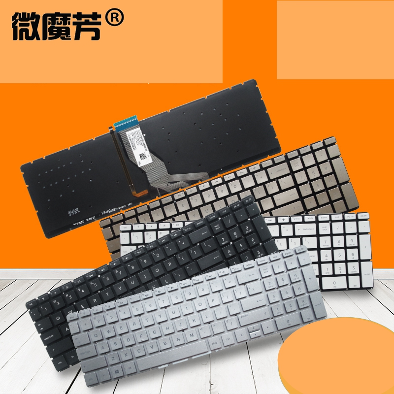 US laptop <font><b>keyboard</b></font> for <font><b>HP</b></font> 17-AK 17-BS 17-AK013DX 17-BS018CA 17-AR <font><b>250</b></font> 255 256 <font><b>G6</b></font> 258 <font><b>G6</b></font> 15-CD 15-CK 15-CB 15-BD 15-BW backlight image