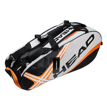 adults head tennis racket bag bagpack breathable sports backpack for 1 2 pcs rackets racquete with shoes bag double shoulder Professional Head Tennis Bag Large Capacity Max For 6 Tennis Rackets Male Sports Backpack Or Single Shoulder Original