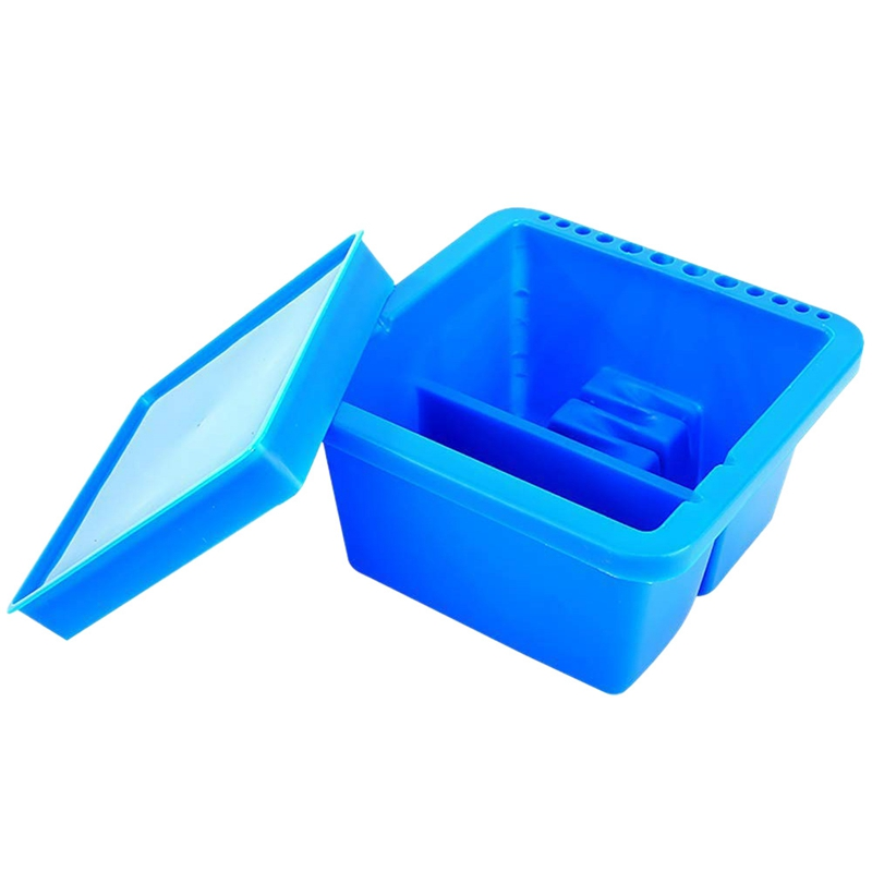 Artist Brush Basin, Multifunction Paint Brush Tub With Brush Holder
