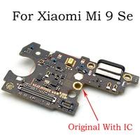 Original para xiaomi mi 9 se placa de carregamento usb placa do porto para xiaomi mi 9se conector usb cabo flexível peças reposição