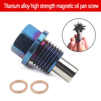 цена на Titanium alloy magnetic oil release plug oil release nut M12*1.25 M12*1.5 M12*1.75 M14*1.5 oil release bolt