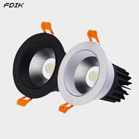 Recessed Dimmable Round Anti Glare COB LED Downlights 7W 9W 12W CREE LED Ceiling Spot Lights Background Lamps Indoor Lighting