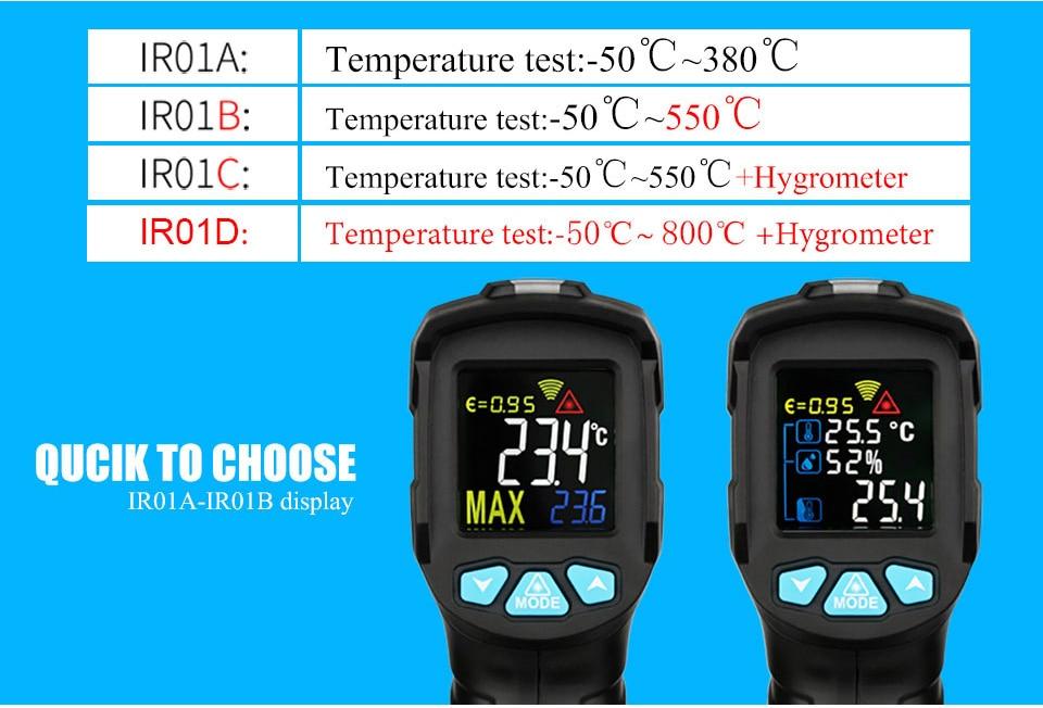 H3bfb155fa88244c8832337a8dd68ecba5 MESTEK IR01 digital thermometer humidity meter infrared thermometer hygrometer temperature meter pyrometer Imager termometro