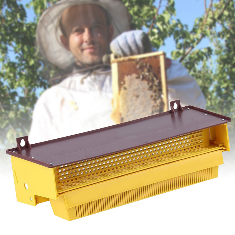 Bee Pollen Trap Plastic Front-Mount Removable Ventilated Collect Pollen Beekeeping Accessory Tool  Plastic Beehive Frames