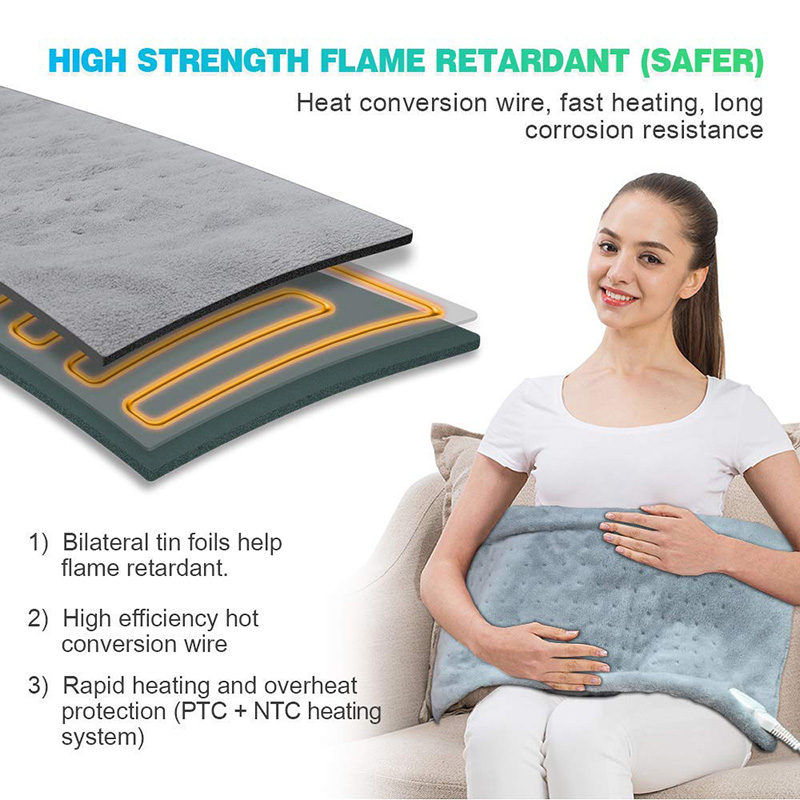 Bellavie Electric Heating Pad For Body Moist And Dry Heat Pain Relief Winter Warmer 3 Heat Controller US Plug 110V