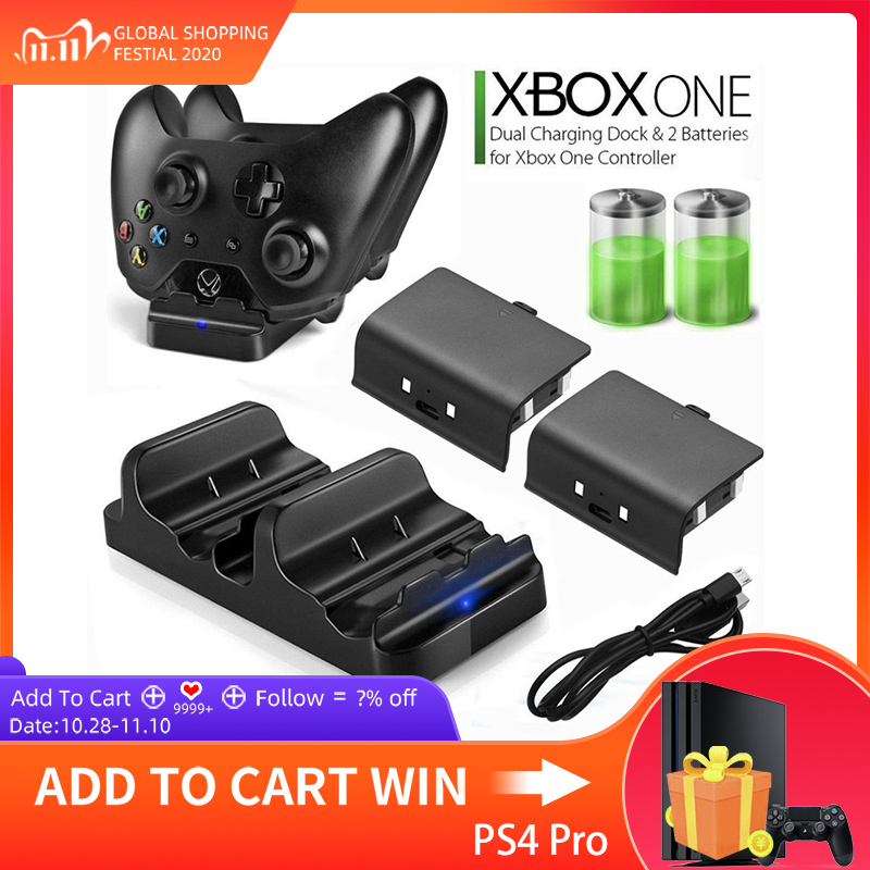 Fast Charger for XBOX ONE Controller Dual Charging Dock Charger   2pcs Rechargeable XBOX ONE Controller Battery Stander