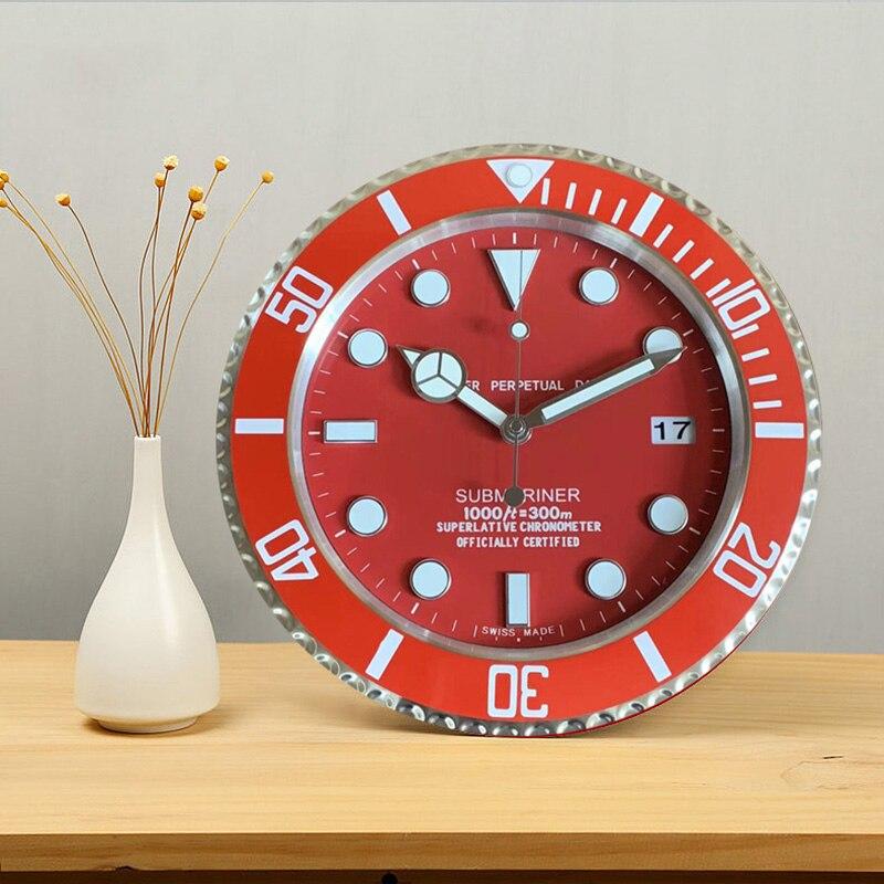 Conception de marque de luxe en métal Art montre horloge fonction lumineuse Top qualité en métal décor à la maison horloges murales avec LOGO correspondant
