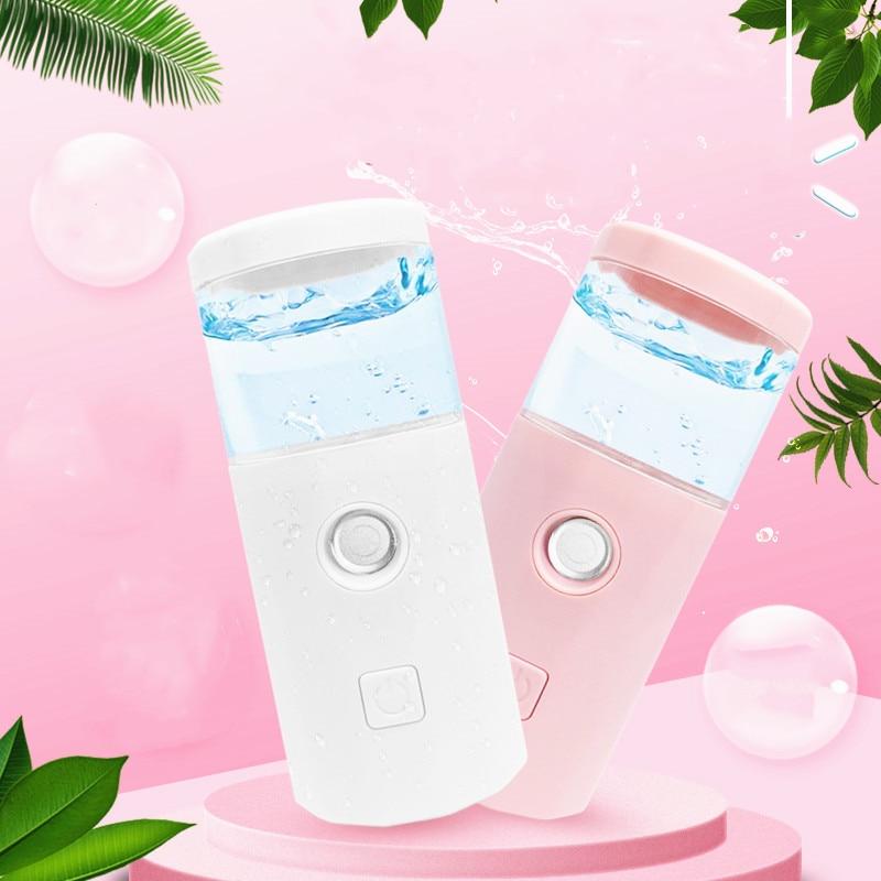 USB Portable Rechargeable Face Nano Mist Sprayer Facial Body Nebulizer Steamer Moisturizing Skin Care Mini Beauty Instruments