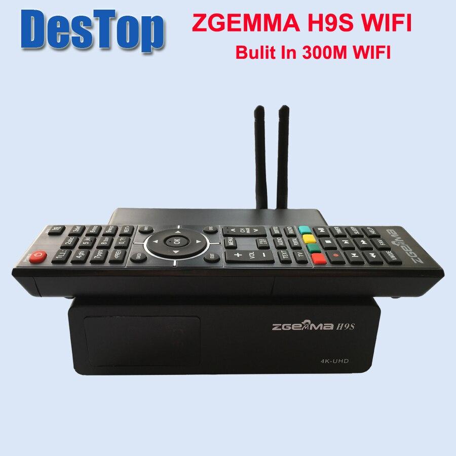 Zgemma-Star 1 шт./лот ZGEMMA H9S bulit in 300M wifi DVB-S2X Multistream 4K UHD поддержка спутникового ресивера ZGEMMA H9S
