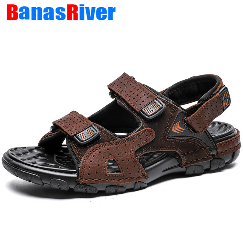 Summer Mens Outdoor Hollow Beach Sandals Casual Sports Walking Roman Shoes Size