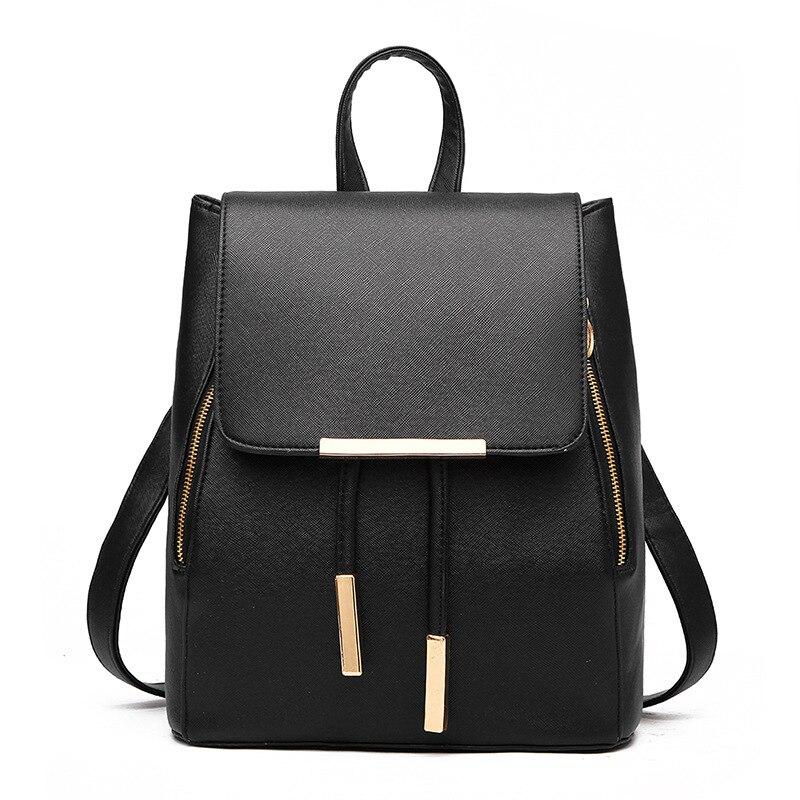 Mochilas femininas 2020 moda de alta qualidade mochila de couro do plutônio para as mulheres preto grande bolsa de ombro sacos de escola