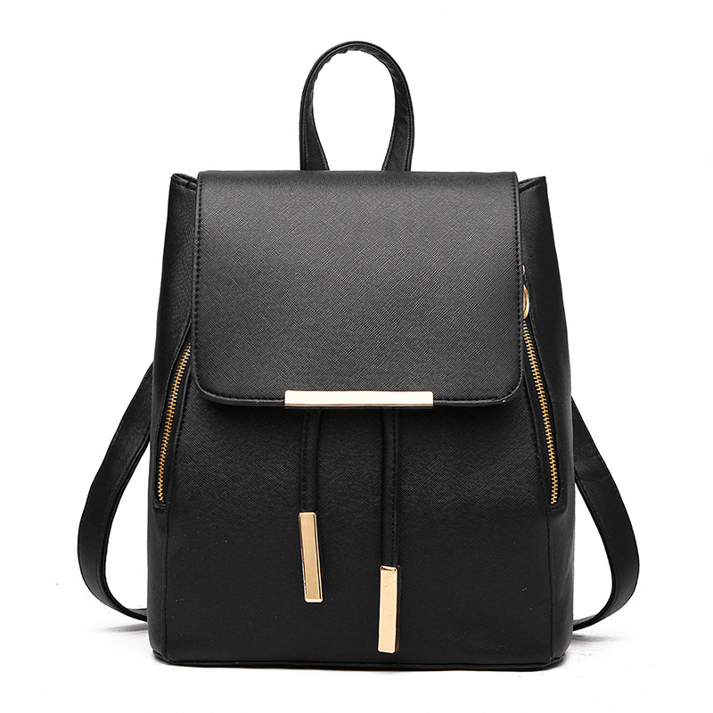 Women Backpacks 2020 Fashion High Quality  Pu Leather Backpack For Women Black Big Women Bag Shoulder School Bags
