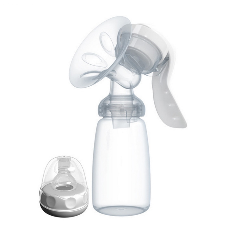 CYSINCOS Manual Breast Pump Powerful Baby Nipple Suction 150ml Feeding Milk Bottles Breasts Pumps Bottle Sucking High Quality