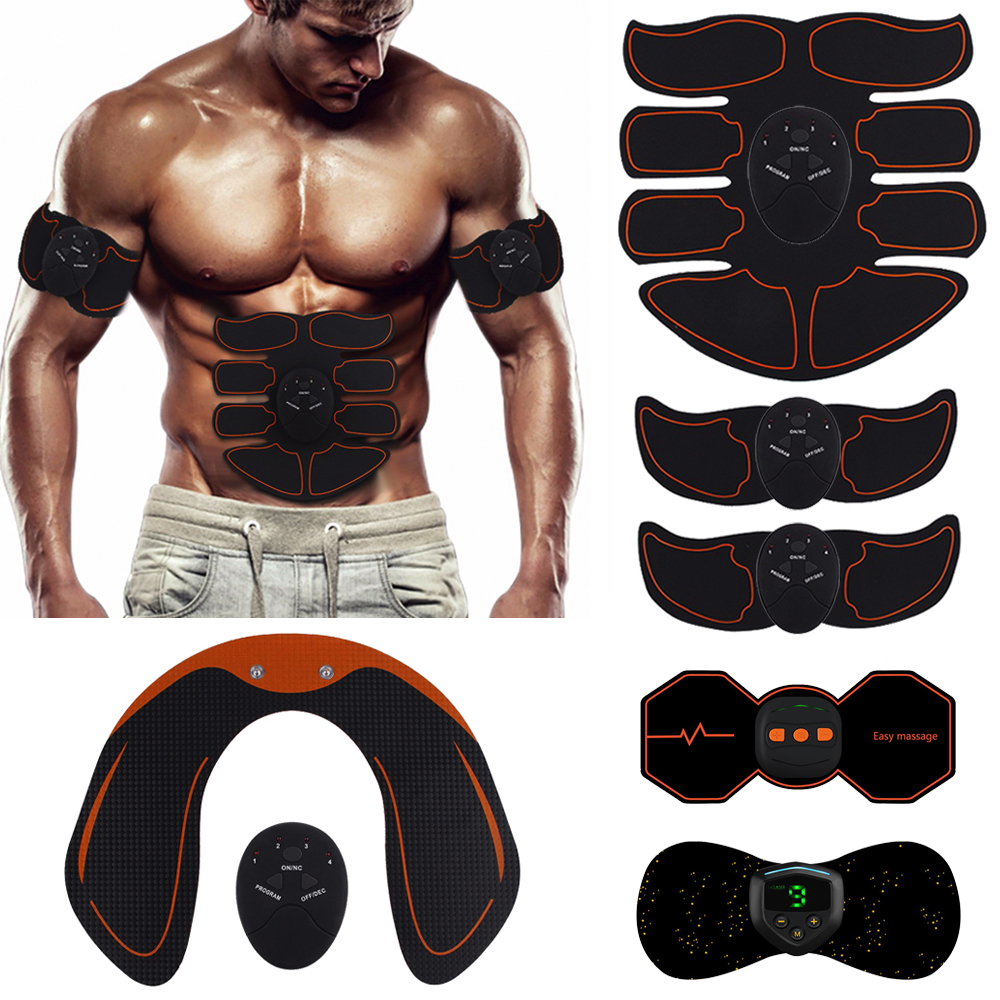 Fitness Trainer Abdominal Muscle Exerciser Belly Leg Arm Buttock Hip Exercise Electric Simulators Massage Press Workout Home Gym