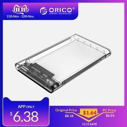 ORICO HDD Caso 2.5 Trasparente SATA a USB 3.0 Adapter External Hard Drive Enclosure per 7mm/9.5mm SSD Disk HDD UASP SATA III
