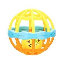 1 шт., забавные игрушки для новорожденных, шаровая погремушка для рук, мячик, погремушка, мягкий шарик, Развивающие детские Игрушки для ванны, игрушки для детей 0-12 месяцев