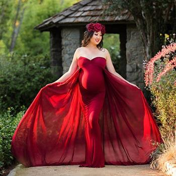 Fotografia rekwizyty ciąży długa sukienka fotografia ubrania sukienka ciążowa do sesji zdjęciowej w ciąży sukienka