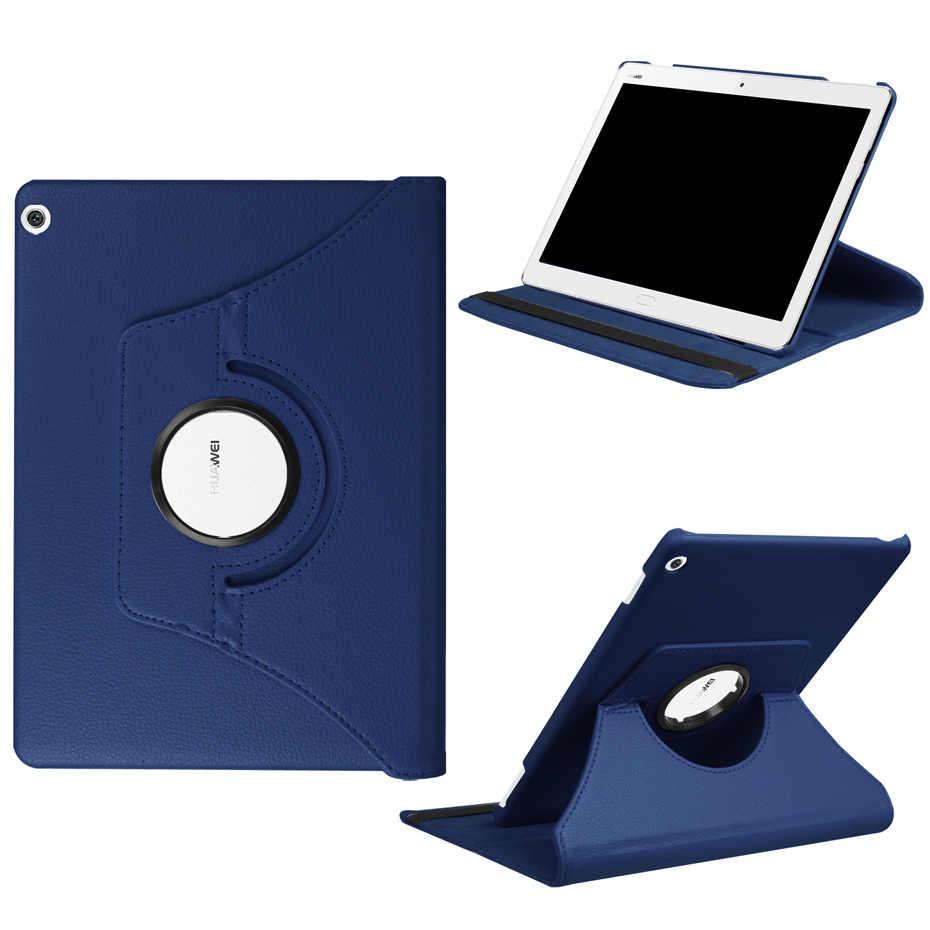 لهواوي MediaPad M3 لايت 10.0 BAH-W09 BAH-L09 BAH-AL00 10.1 بوصة جراب كمبيوتر لوحي 360 الدورية قوس فليب حامل PU أغطية جلد