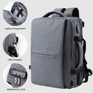 Image 2 - MOYYI iş seyahat çift bölmeli sırt çantaları ile çok katmanlı benzersiz dijital çanta 15.6 inç dizüstü bilgisayar için erkek sırt çantası