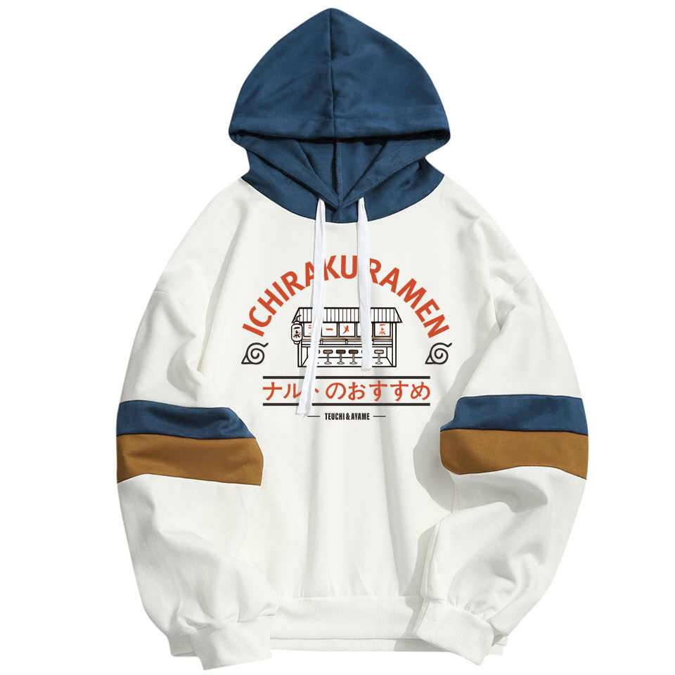 Anime NARUTO Ichiraku Ramen Lustige Hoodies Sweatshirt Harajuku Hip Hop Streetwear Pullover Tops Uchiha Itachi Frühling Sommer