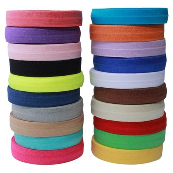 10 Yards Fold Over Elastic 5/8'' 15mm Stretch Foldover FOE Elastics Ribbon by The Yard for Headbands Hair Ties - discount item  44% OFF Arts,Crafts & Sewing