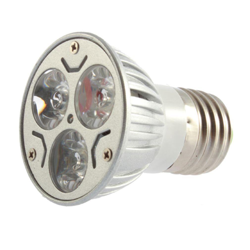 ICOCO E27/GU5.3 3W 3x1W LED זרקור תקן מנורת Downlight קר לבן 85-265V קידום מכירה פלאש להתמודד סיטונאי