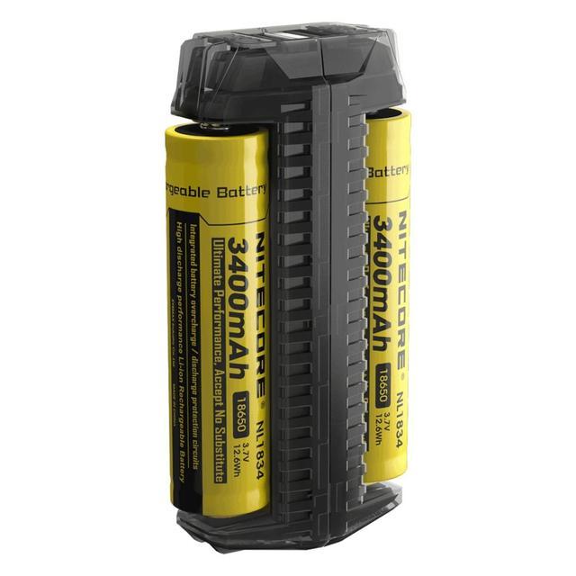 100% الأصلي Nitecore F2 مايكرو USB شاحن بطاريات ذكي شحن مرنة قوة البنك ل بطارية ليثيوم أيون/IMR 26650 18650