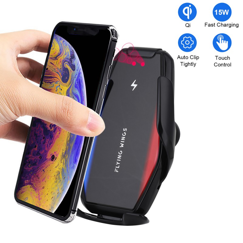 Wireless Car Charger Mount Sensor Auto Clamping 10W Fast Charge Air Vent Phone Holder Compatible with iPhone 11 Pro Max//Xs//Max//XR//X//8//Plus Black Samsung S10//S9//S8 /& All Qi Deviceby KALULI