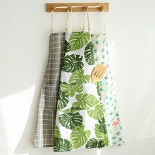 Nordic Style Apron Christmas Tree Deer Printing Brief Adult Apron with Big Pocket Kitchen Baking Cooking Accessories Bib Aprons