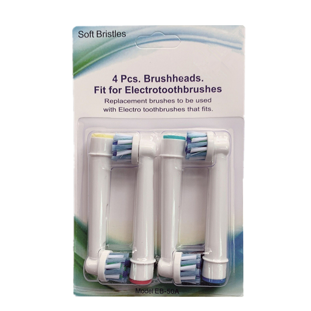 4PCS Replacement Toothbrush Heads fits for Oral b Braun Electric Tooth Brushes Cross Function 3D Excel Pro health White image