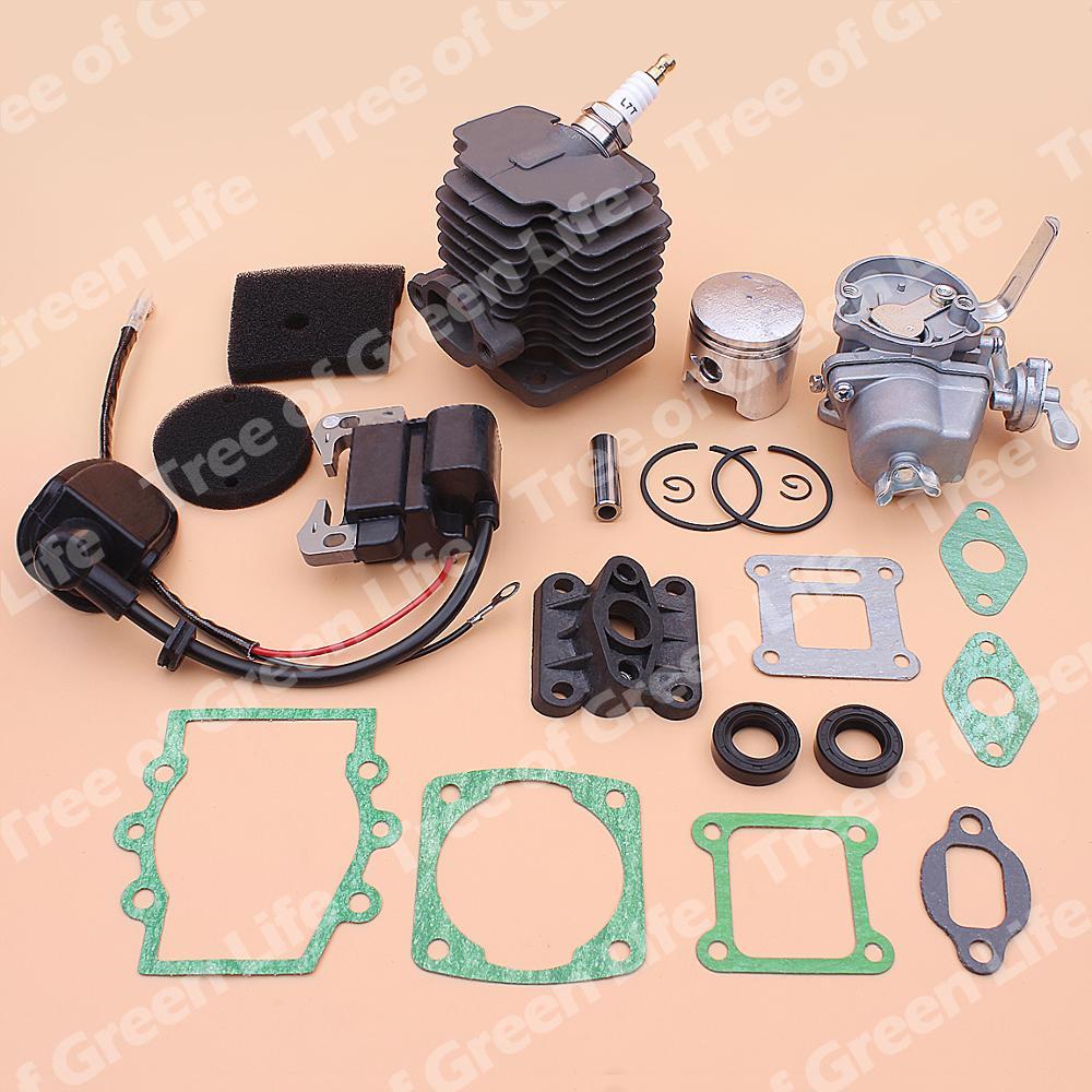 Tools : 40mm Cylinder Piston Carburetor Ignition Coil Kit For Robin NB411 CG411 Air Filter Element Intake Manifold Gasket Oil Seal Set