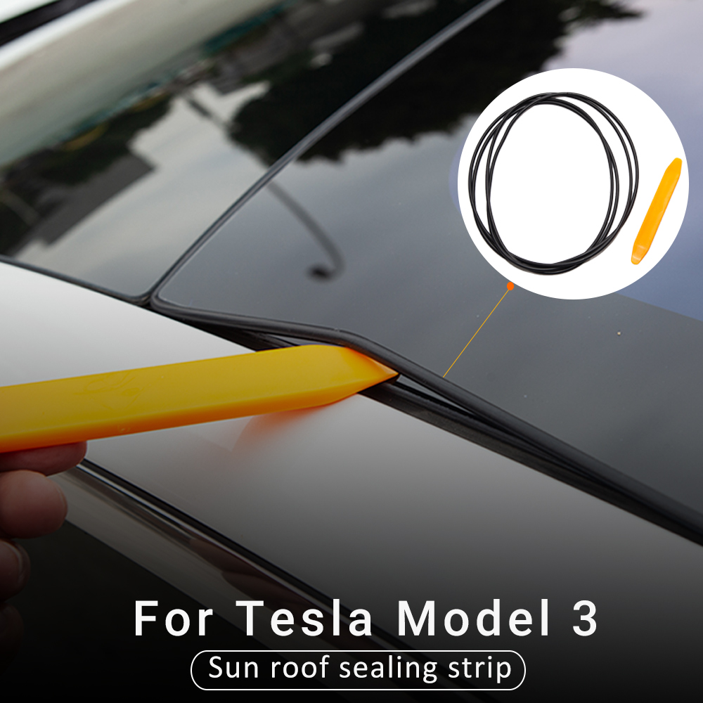 For Tesla Model 3 Windshield Roof Wind Guard Noise Lowering Reduction Seal Kit Skylight glass sealing strip Car Accessories