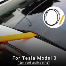 Para acessórios de vedação do carro tesla, modelo 3, proteção contra vento, redução de ruído, selo, faixa de vidro do skylight