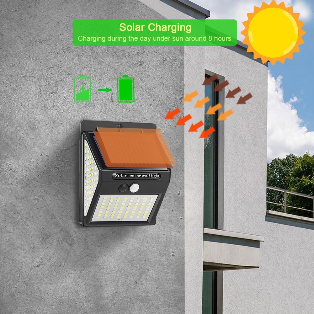 LED Solar Light Outdoor Solar Lamp PIR Motion Sensor Wall Light Waterproof Solar Powered Sunlight for Garden Decoration 4