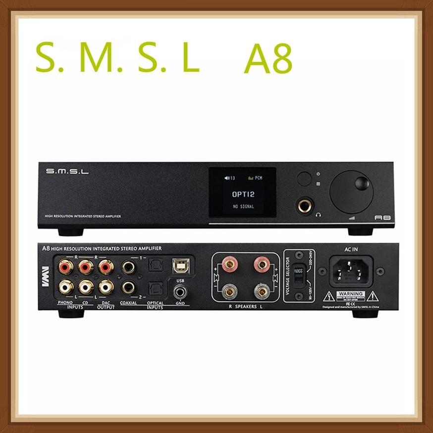 SMSL A8 XMOS Lösung und ICEpower 125Wx2 Modul PCM 768khz DSD512 HIFI Audio Digital Power Verstärker DAC USB AMP