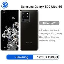 Samsung Galaxy S20 Ultra G988 5G 128GB ROM G988U1 desbloqueado teléfono móvil Snapdragon 865 Octa Core 6,9