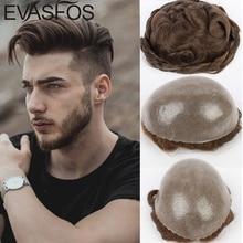 Индийские человеческие волосы, мужские парики, парик из искусственной кожи, мужской капиллярный протез, блок волос, заменяемый мужской t-System...
