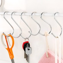1ps Hook Wall Hanging Coat Hook Stainless Steel S-Shape Hook S Hook S Type Hook Hanging Bacon Hook Kitchen Hole-Free S-Hook cs 12 24 in s hook s hook not include pot