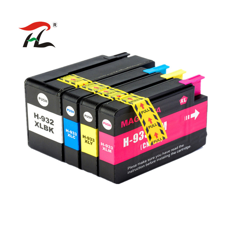 1set 932XL 933 For  HP932 933XL Replacement Ink Cartridge For HP 932 Officejet  6100 6600 6700 7110 7610 7612 Printer
