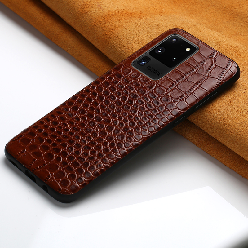 Leather Case For Samsung Galaxy S20 Plus S20+ Ultra A50 A30 A70 S10 S9 Genuine Leather Cover Note 10 Plus A7 A8 2018 A9