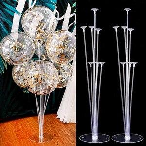 1Set 7 Tubes Balloon Stand Balloon Holder Column Confetti Balloons Baby Shower Birthday Party Wedding Xmas Decoration Supplies(China)