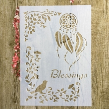 A4 29 * 21cm Polynesia earring DIY Stencils Wall Painting Scrapbook Coloring Embossing Album Decorative Paper Card Template