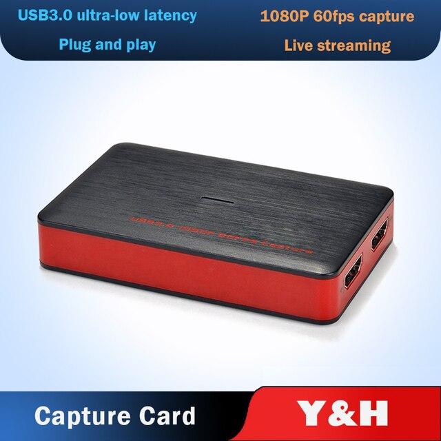 4K فيديو بطاقة التقاط الصوت والفيديو USB3.0 HDMI فيديو المنتزع سجل صندوق ل PS4 لعبة دي في دي كاميرا تسجيل كاميرا بث مباشر 1080P 60Hz
