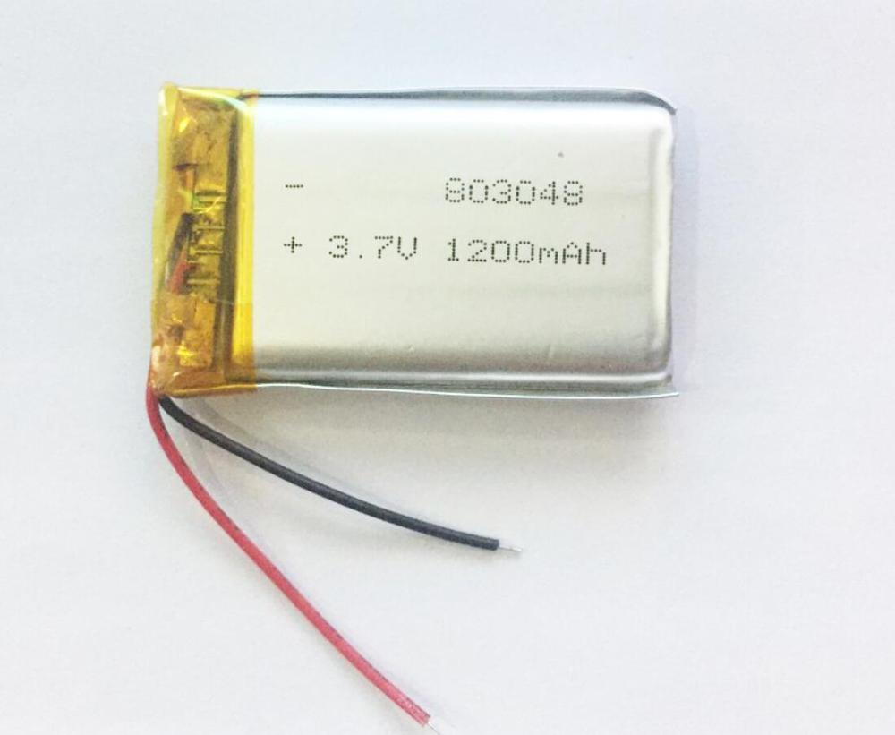 803048 783048 3.7V 1200mAh Lithium Li polymère batterie pour Ebook IPAQ yeux masseur cou masseur DVD GPS
