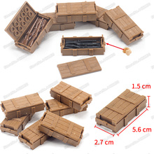 Military ww2 Weapons Box Army Soldier Figures Special Forces Assemble Building Blocks Storage Set Child Christmas Gifts Toys