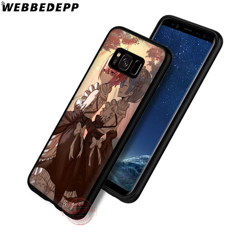 Webbedepp Anime Re Zero Remu Soft Phone Case untuk Samsung S6 S7 Edge S8 S9 S10 Plus J4 J6 J7 j8 Note8 9 10