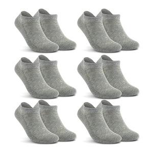Image 5 - Хлопковые мужские однотонные носки no show, мужские носки большого размера, брендовые носки 6 парт/лот (ЕС 39 46) (США 7,0 12,0) VKMONY