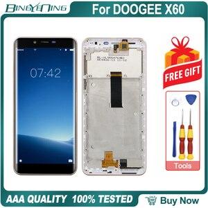 Image 2 - Hohe Qualität Für DOOGEE X60 LCD & touchscreen Digitizer mit rahmen display Screen modul Reparatur Ersatz Zubehör Teile